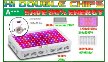 Lampe d'eclairage led X1 double chips 5W spectre entier