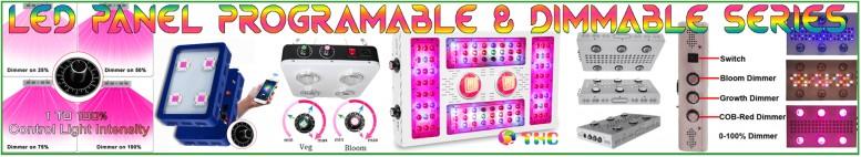 Penneau LEDs reglables intensite controle programmable par telephone apps